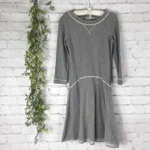 Chelsea & Violet Gray Sweatshirt Drop Waist Dress